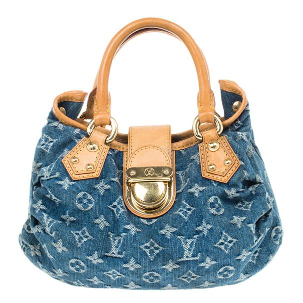 Louis Vuitton Blue Denim Monogram Pleaty Handbag Pm Nextprev Prevnext