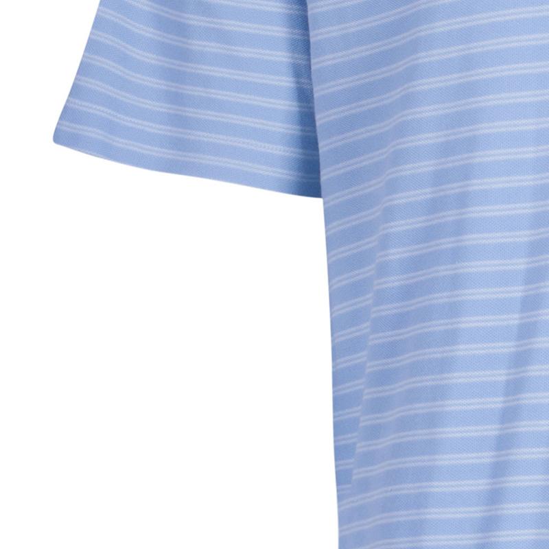 Ermenegildo Zegna Men's Blue Striped Polo Shirt XXL