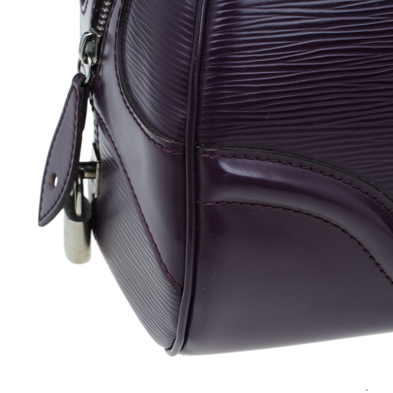 Louis Vuitton Purple Epi Leather Bowling Montaigne PM Bag