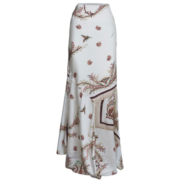 Roberto Cavalli Floral Printed Skirt and Top Set XL