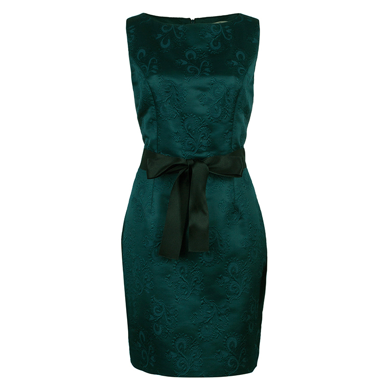 Dior Emerald Green Sheath Dress M