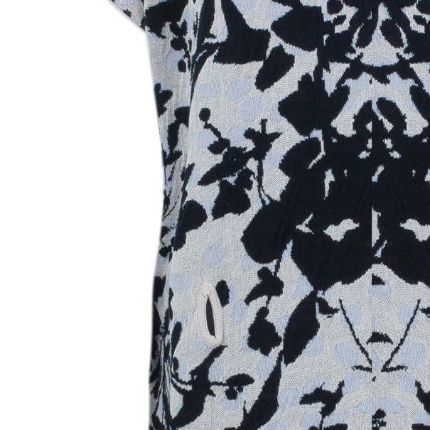 Kenzo Floral Knit V-Neck Shift Dress L