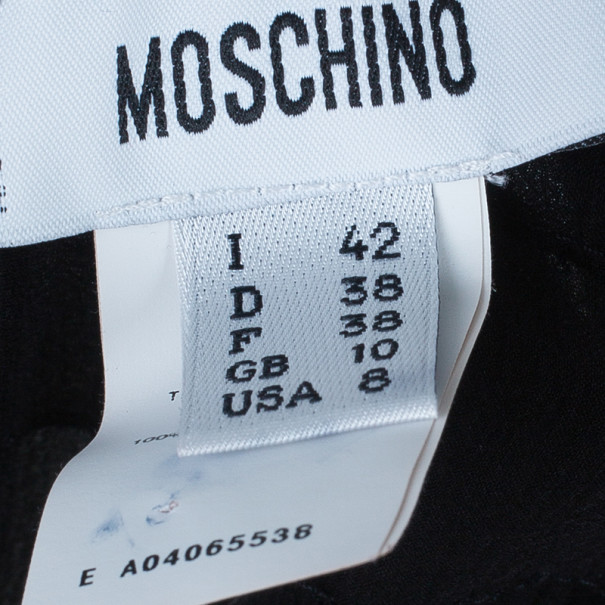 Moschino Black Tiered Silk Chiffon Gown M
