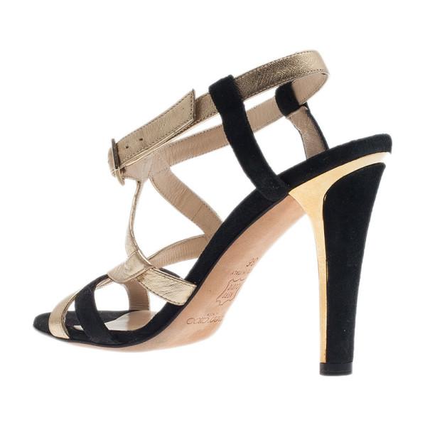 Jimmy Choo Gold Criss Cross Sandals Size 36