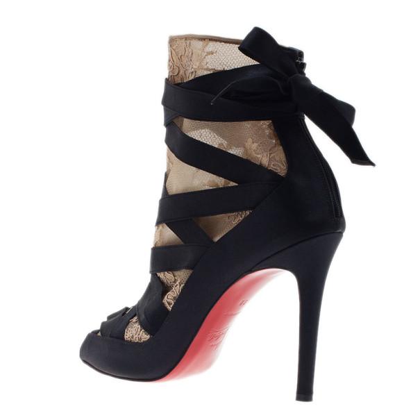 Christian Louboutin Black Petit Fee Ankle Boots Size 38