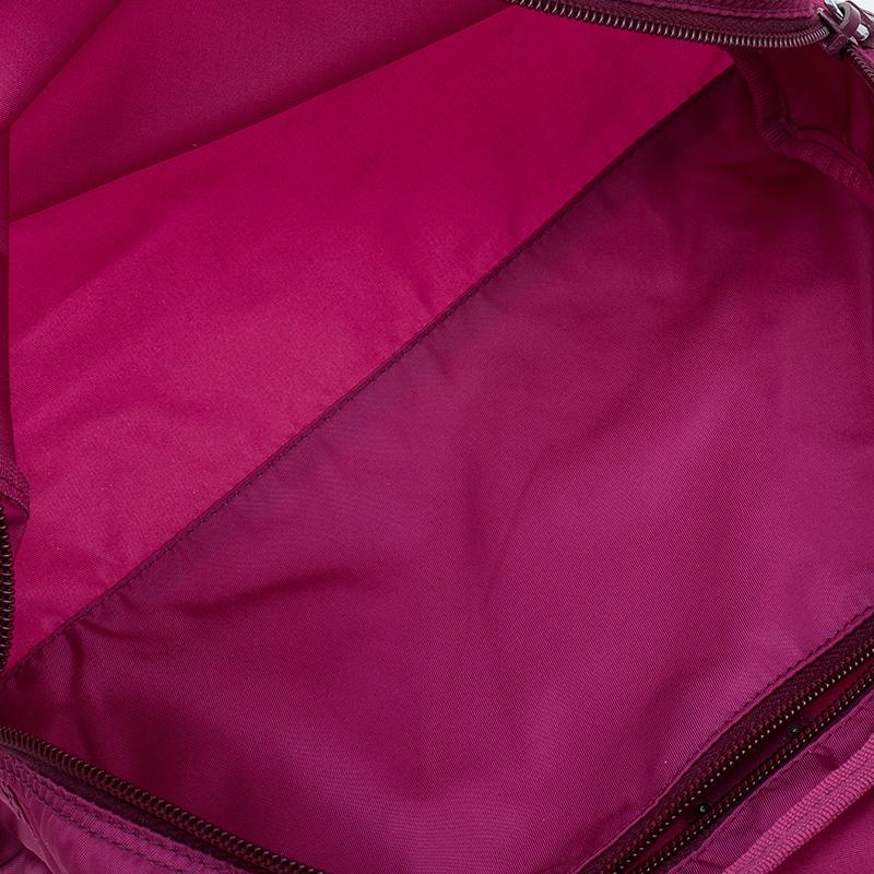 Prada Pink Nylon Vela Cosmetic Pouch