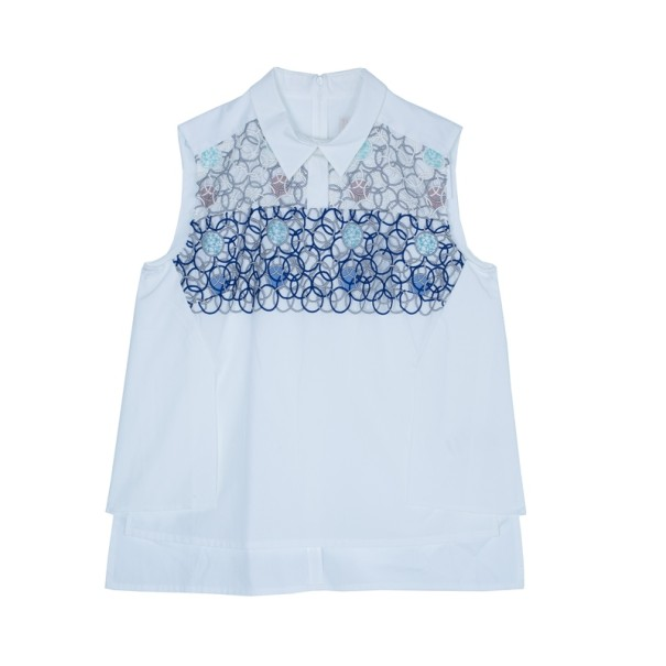 Peter Pilotto White Sleeveless Blouse S