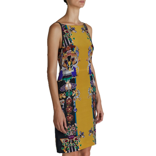 Mary Katrantzou Halle Printed Crepe Sheath Dress S