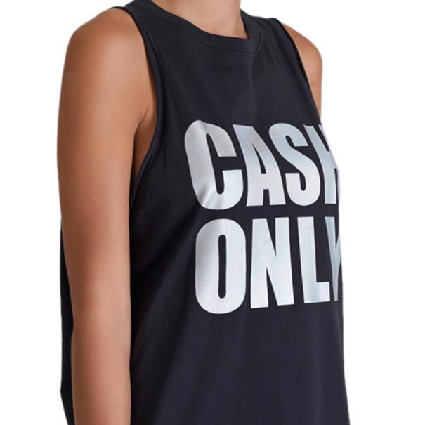 "3.1 Phillip Lim Black ""Cash Only"" Logo Tank XS"