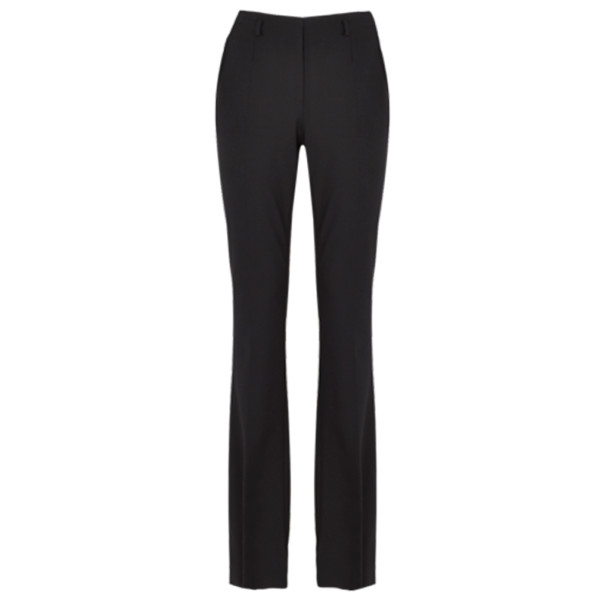 Jason Wu Black Wool Boot-Leg Trousers S