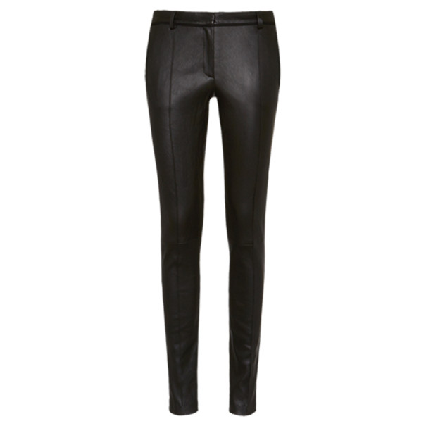 Jason Wu Black Leather Stovepipe Trousers L