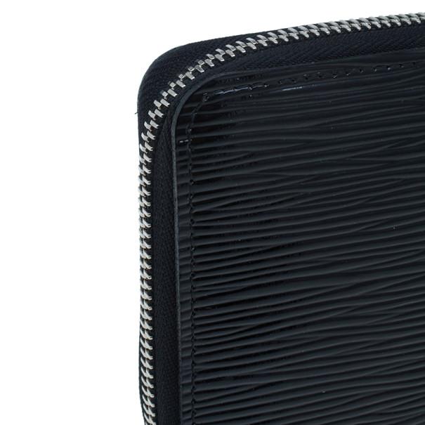 Louis Vuitton Black Epi Leather Zippy Continental Wallet