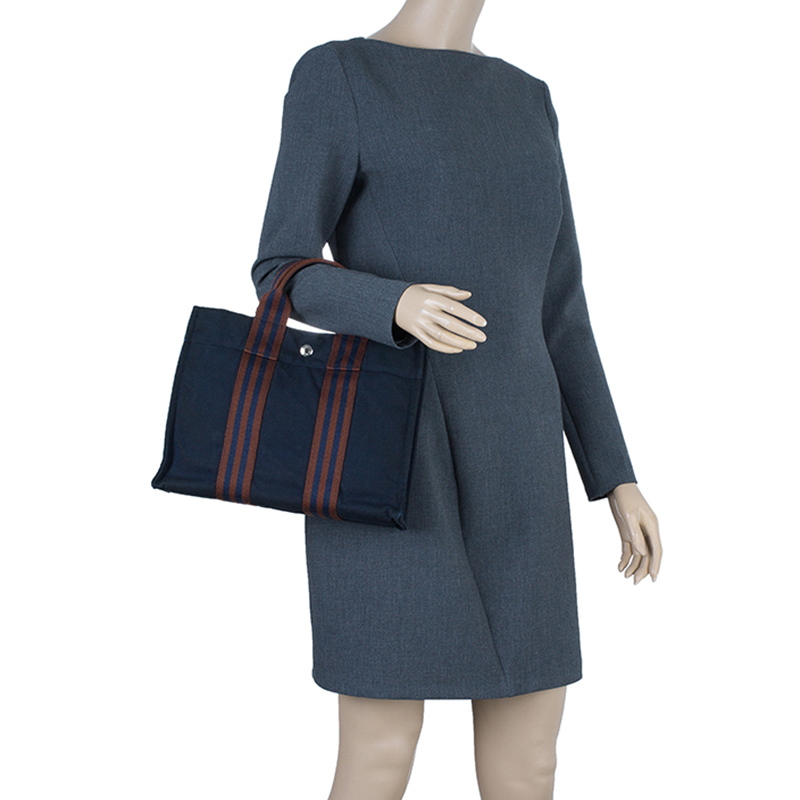 Hermes Navy Blue Fourre-Tout Tote PM