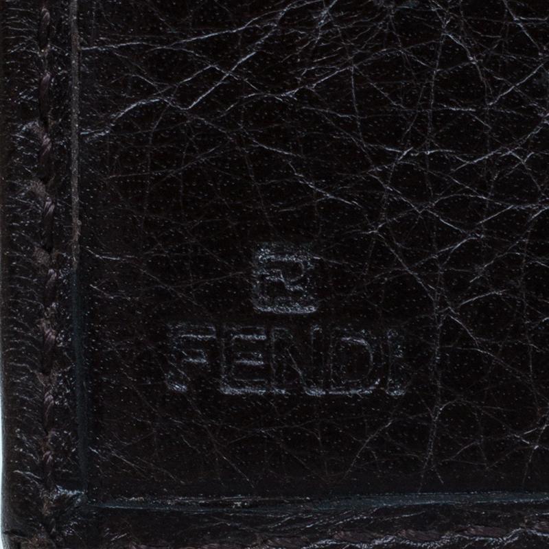 Fendi Brown Zucca Canvas Wallet