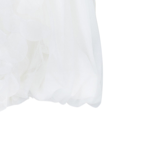 White by Vera Wang Strapless Short Organza Ruffle Wedding Dress M