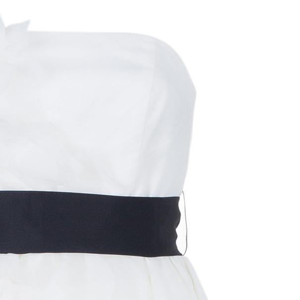 White by Vera Wang Strapless Short Organza Ruffle Wedding Dress M