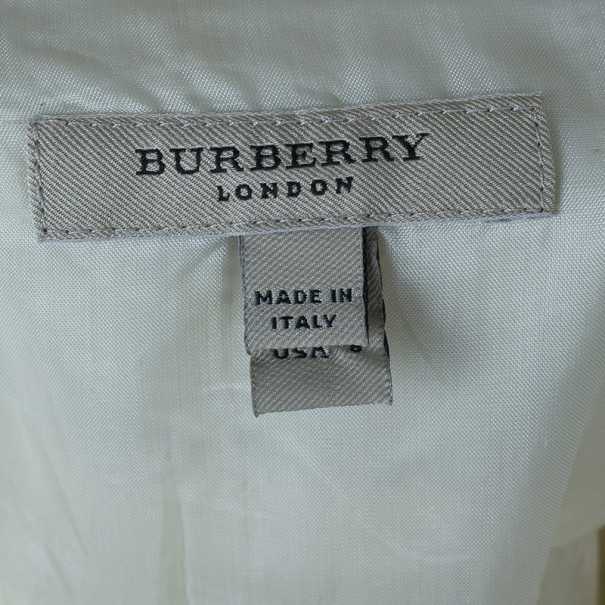 Burberry White Linen Sleeveless Dress M