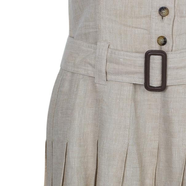 Burberry Linen Novacheck Print Dress S