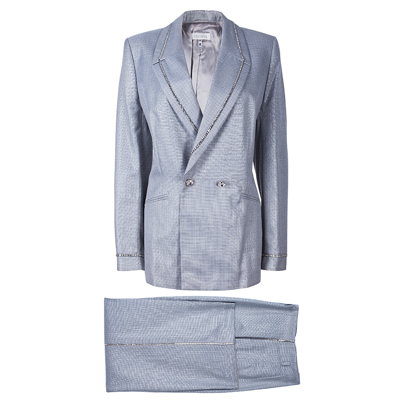 Escada Grey Pant Suit M