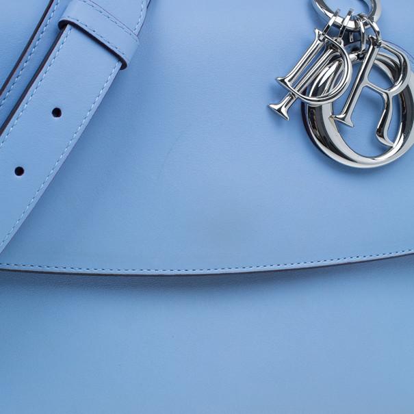 Dior Light Blue Calfskin Small Be Dior Handbag