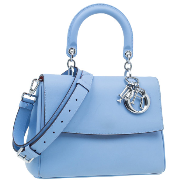 Dior Light Blue Calfskin Small Be Dior Handbag