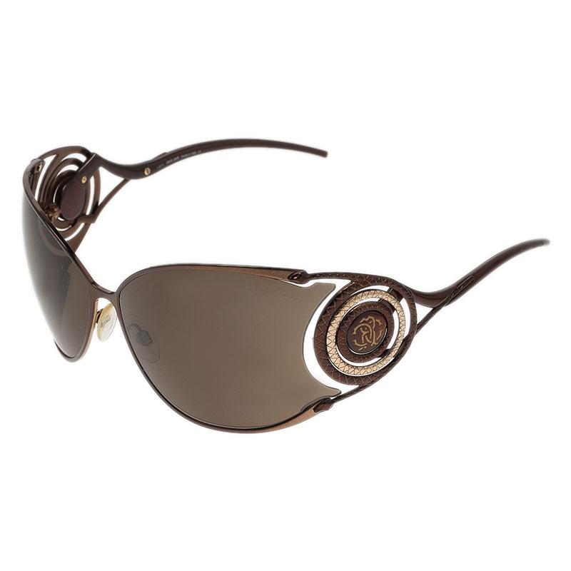 Roberto Cavalli Brown Zircone Sunglasses