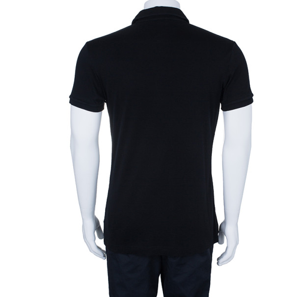 Dolce and Gabbana Men's Black Cotton Polo Shirt XXL