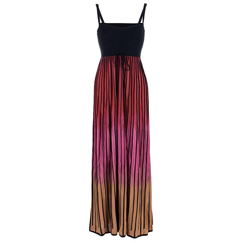 M Missoni Ombre Ribbed Knit Maxi Dress M
