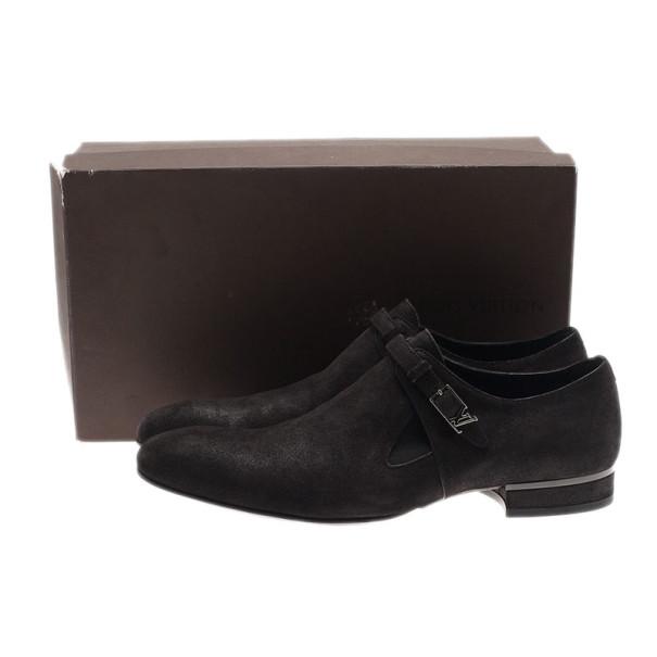 Louis Vuitton Black Suede Vesuvio Oxfords Size 42