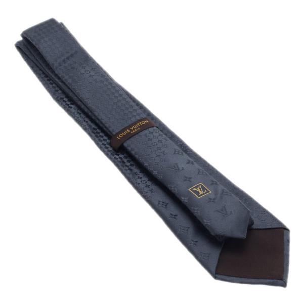 Louis Vuitton Grey Monogram Tie