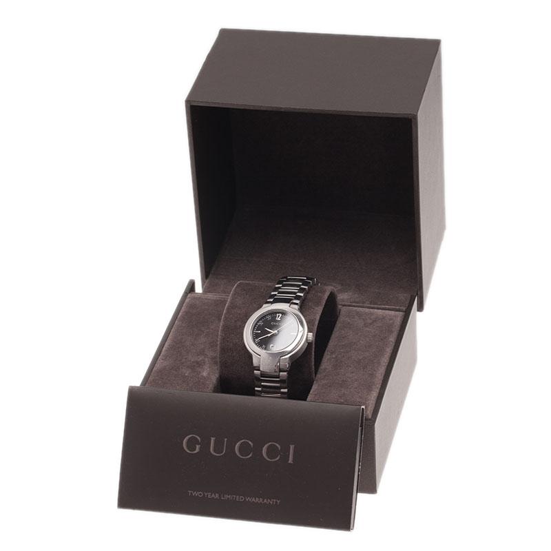 Gucci Black Stainless Steel 8900L Women's Wristwatch 26MM