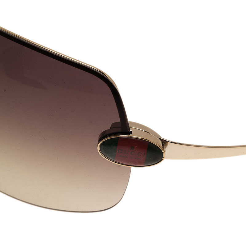 Gucci Black GG1854 Shield Sunglasses