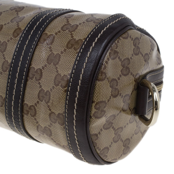 Gucci Brown GG Monogram Duchessa Small Boston Satchel