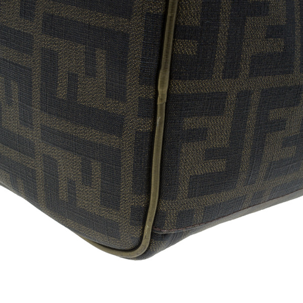 Fendi Zucca Leather Gold Palazzo Print Boston