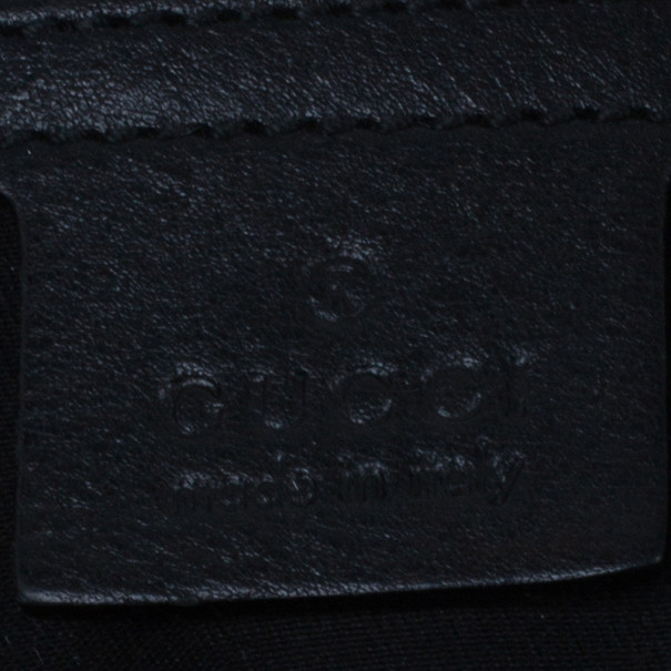 Gucci Black Canvas Medium Pelham Shoulder Bag