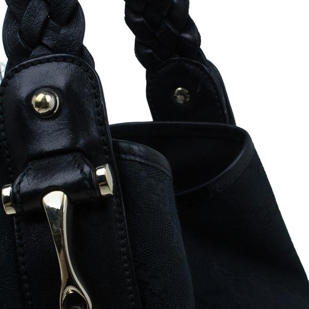 Gucci Black Canvas Medium Pelham Shoulder Bag