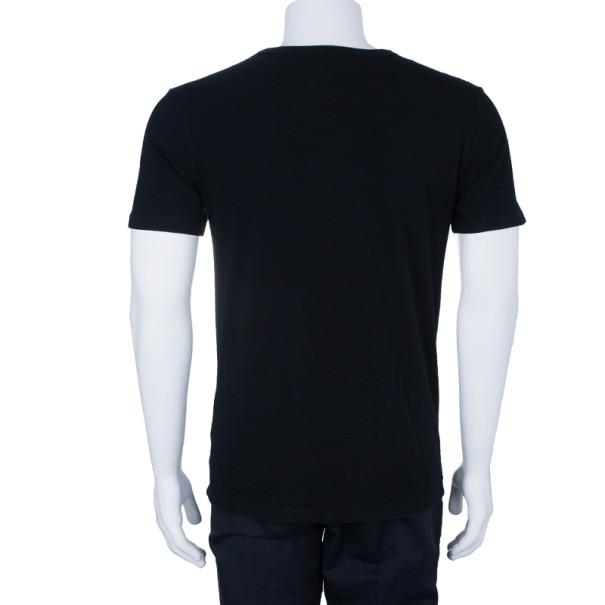 Gucci Men's Black Logo Print T-Shirt M