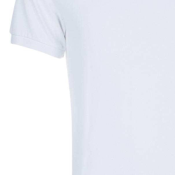 Burberry Men's White Novacheck Collar Polo Shirt L