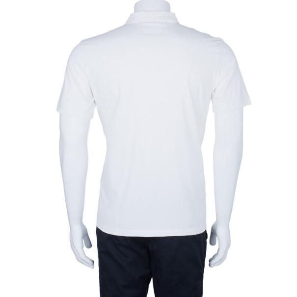 Prada Men's White Polo Shirt XL