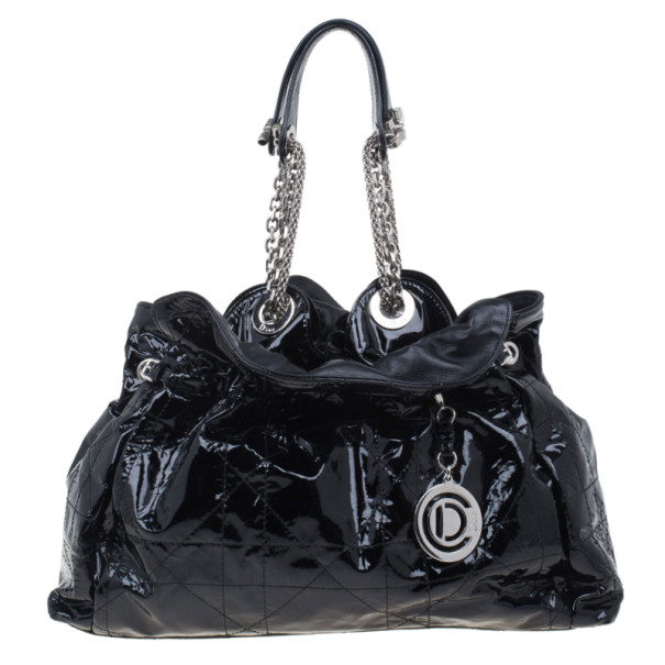 Dior Black Patent Medium Le Trente Hobo