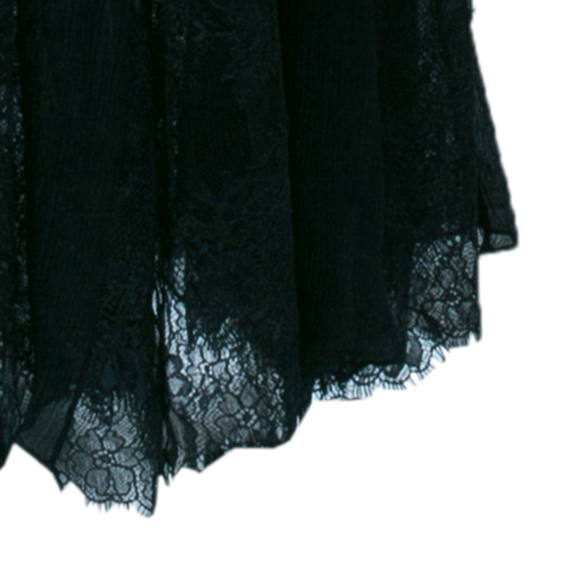 Alice + Olivia Black Lace Insert Maxi Dress M
