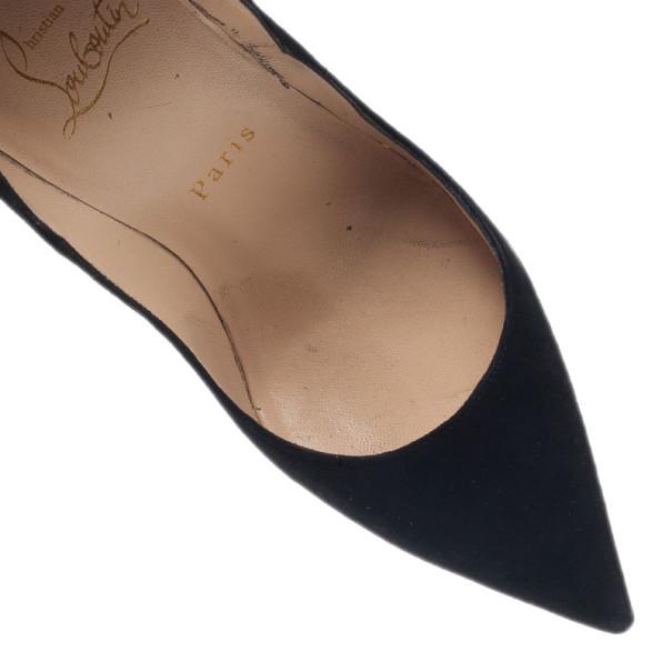 Christian Louboutin Black Suede So Kate Pumps Size 36.5