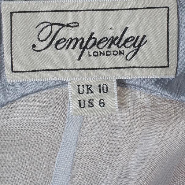 Temperley London Long Ice Blue Oberon Kaftan M