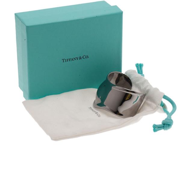 Tiffany & Co. Elsa Peretti Bone Charcoal-Color Ruthenium Over Copper Cuff Bracelet