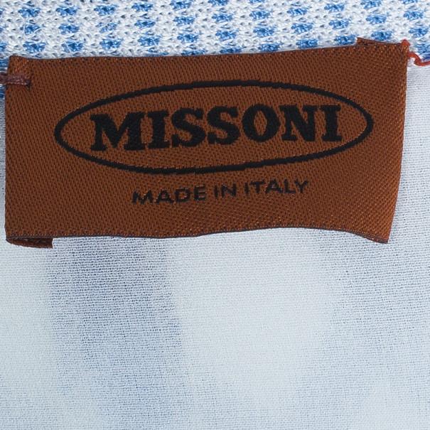 Missoni Multicolor Knit Zig Zag Dress and Cardigan Set M