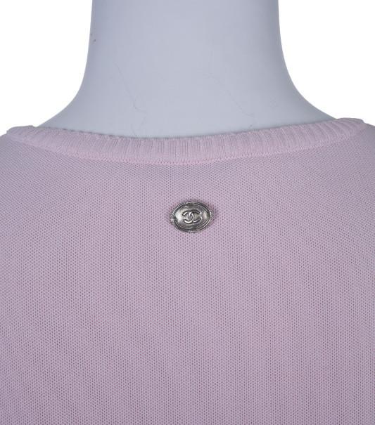 Chanel Pink Tassle Sleeveless Top S
