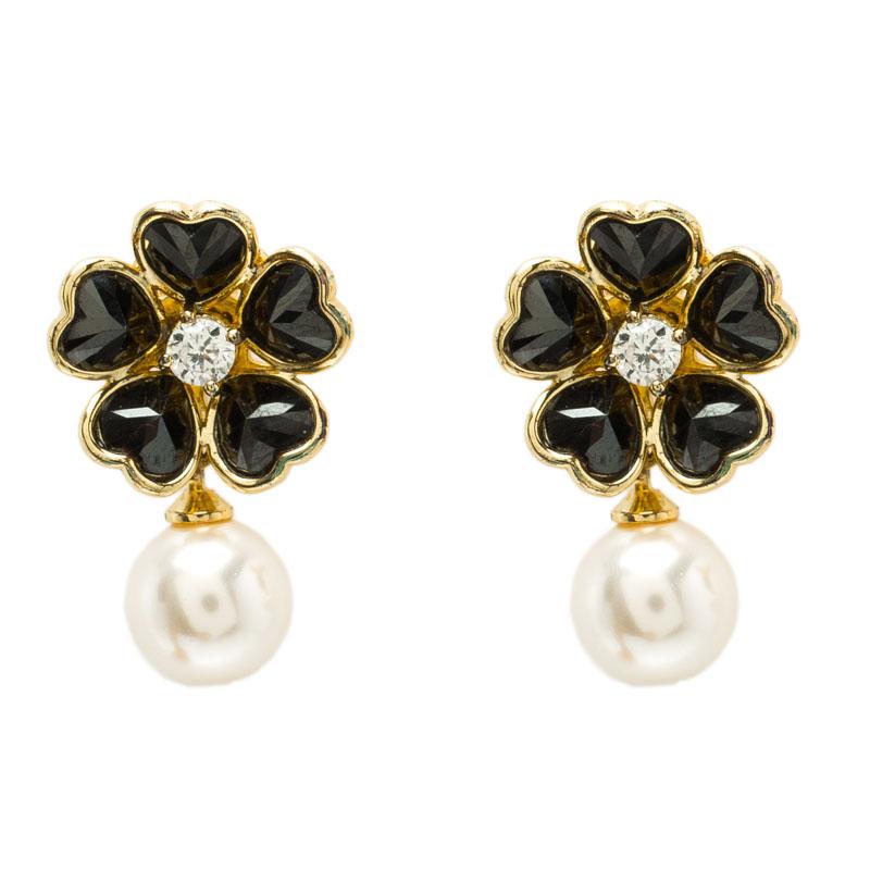 Carolina Herrera Flower Faux Pearl Earrings Nextprev Prevnext