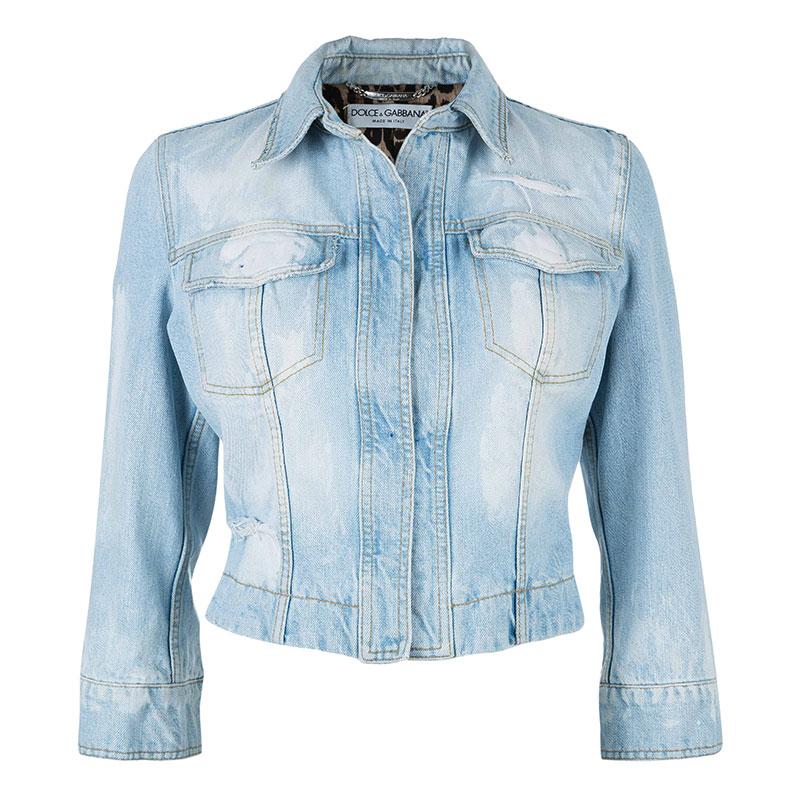Dolce and Gabbana Light Blue Denim Jacket S