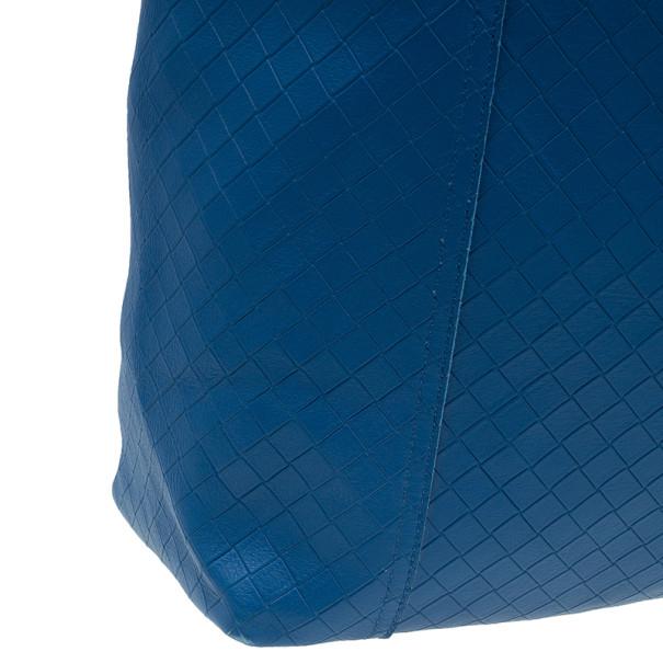 Bottega Veneta Blue Fraise Intrecciato-Mirage Large Tote
