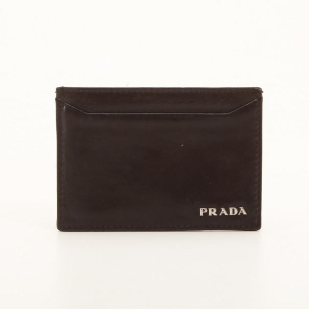Prada brown leather business card holder buy sell lc prada brown leather business card holder nextprev prevnext colourmoves